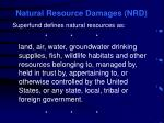natural resource damages nrd