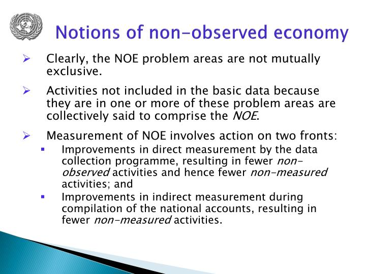 Notions of non-observed economy