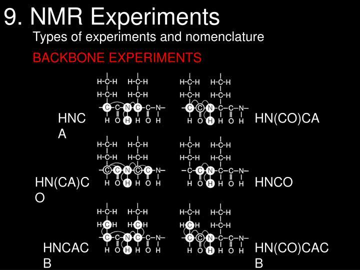9. NMR Experiments