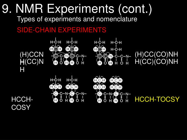 9. NMR Experiments (cont.)