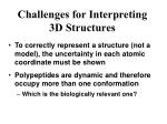 challenges for interpreting 3d structures