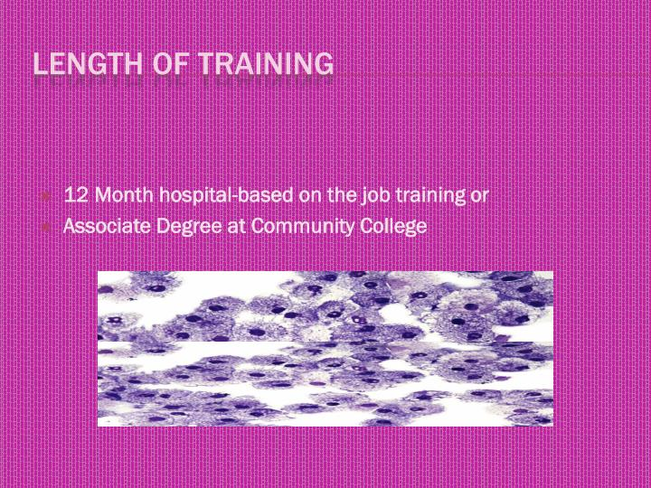 12 Month hospital-based on the job training or