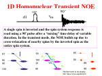 1d homonuclear transient noe