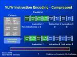 vliw instruction encoding compressed