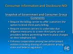 consumer information and disclosure noi7