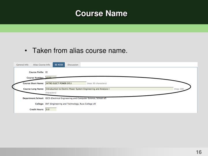 Course Name