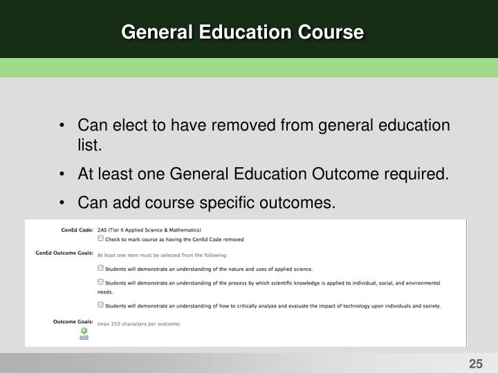 General Education Course