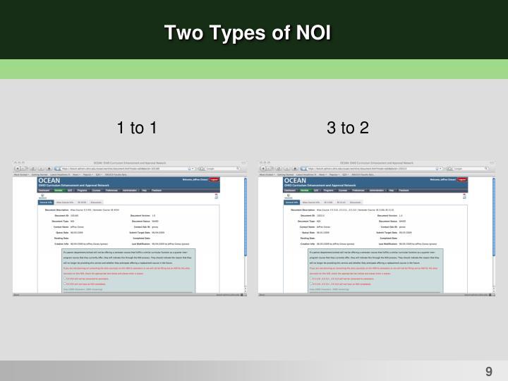 Two Types of NOI