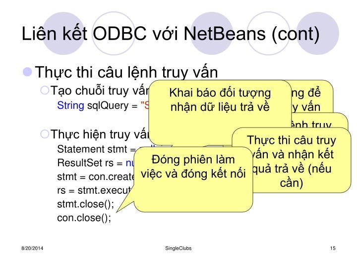 Liên kết ODBC với NetBeans (cont)