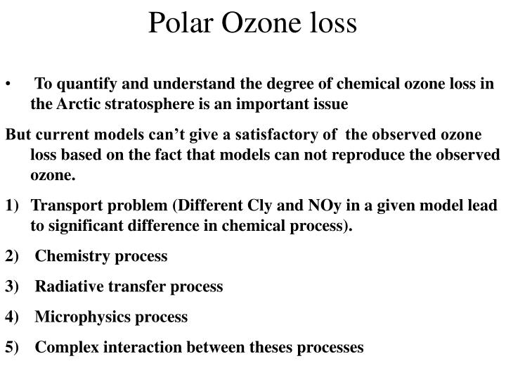 Polar Ozone loss