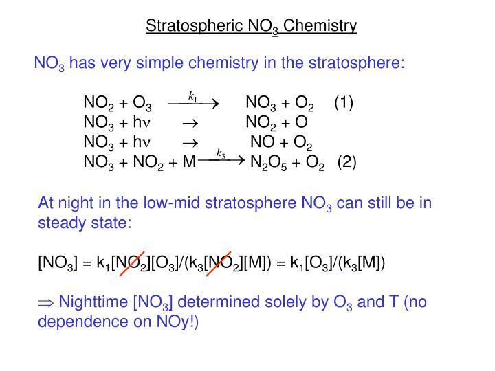 Stratospheric NO