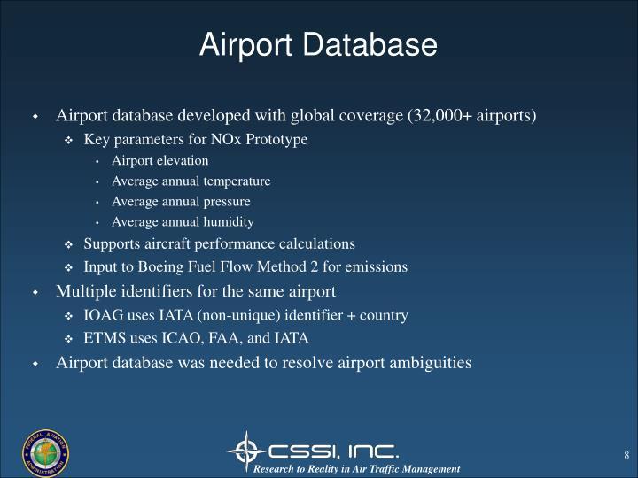 Airport Database