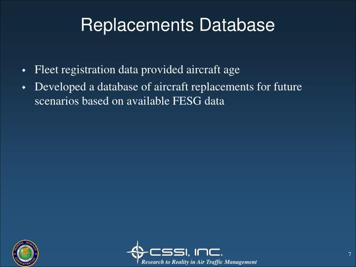 Replacements Database