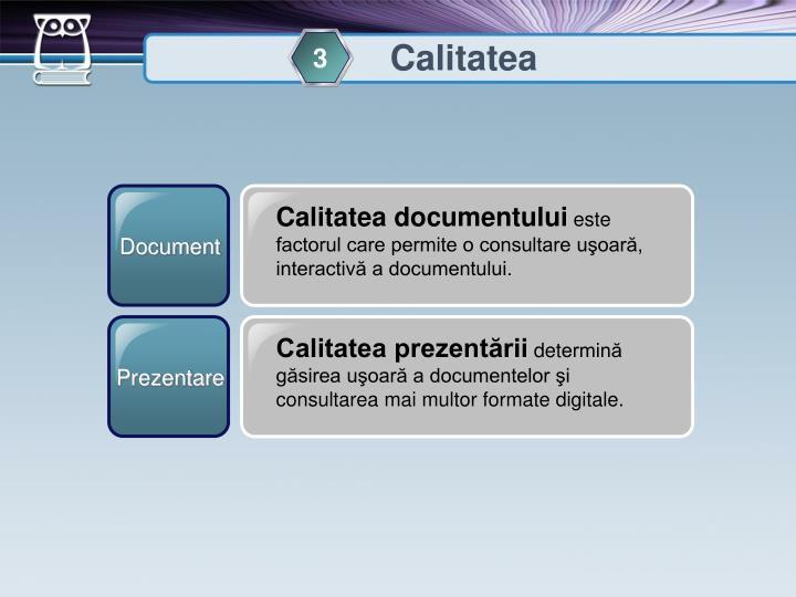 Calitatea documentului