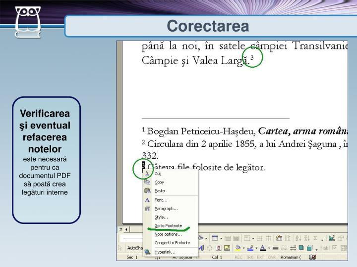 Corectarea