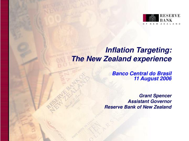 Inflation targeting the new zealand experience