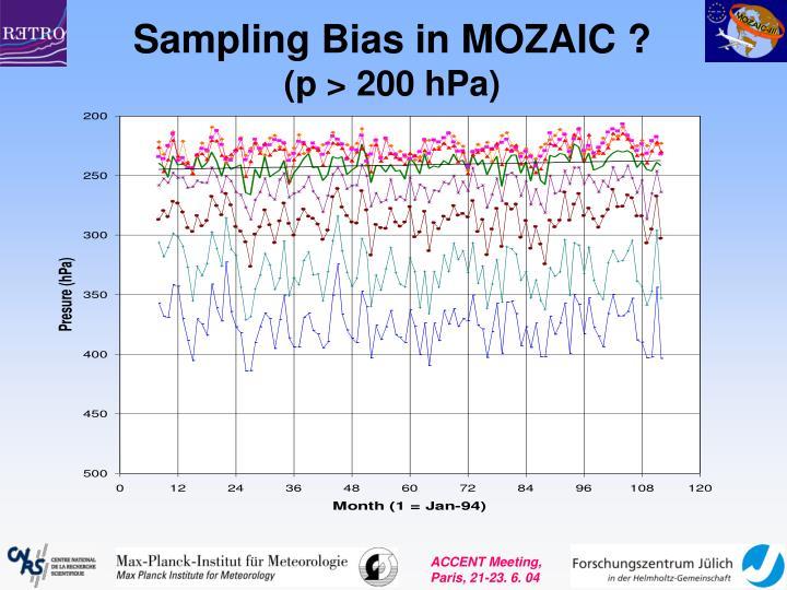 Sampling Bias in MOZAIC ?