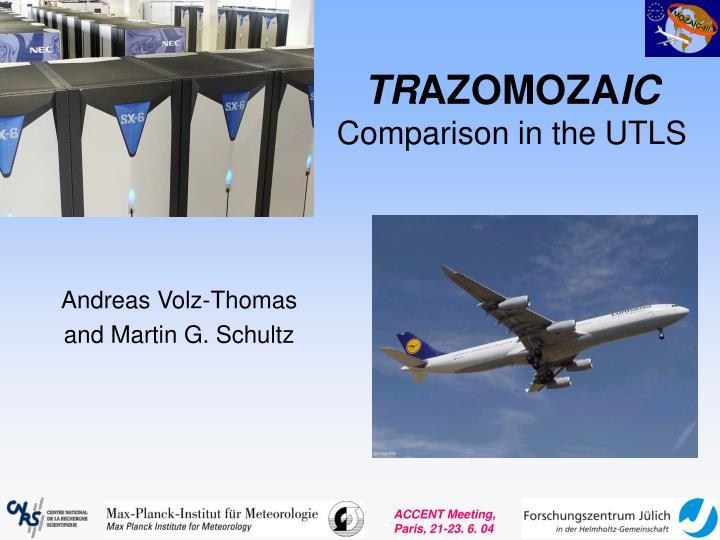 tr azomoza ic comparison in the utls