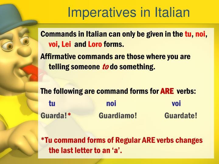 Imperatives in Italian