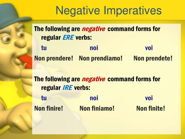 Negative Imperatives