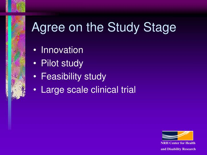 Agree on the Study Stage