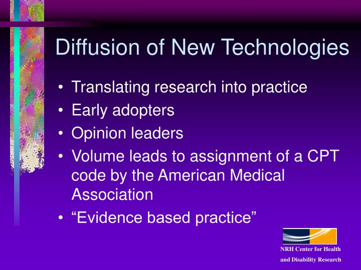 Diffusion of New Technologies