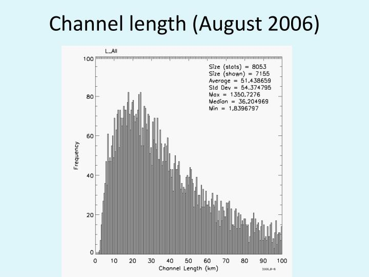 Channel length (August 2006)