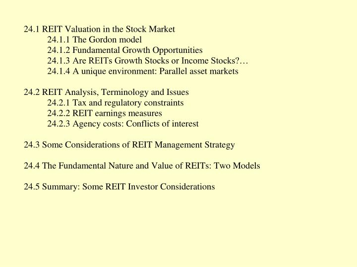 Chapter 24 macro level valuation ii reits