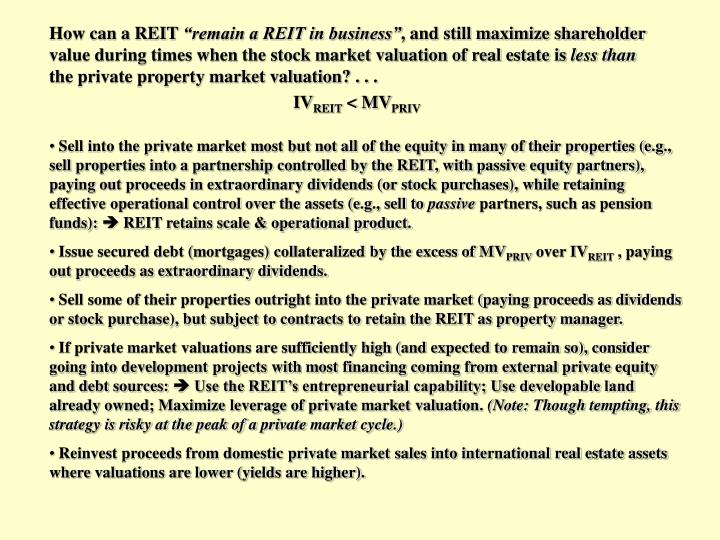 How can a REIT