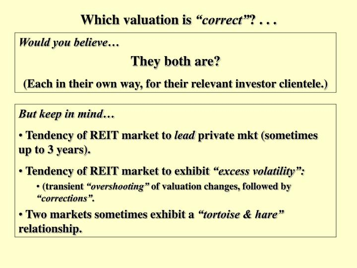 Which valuation is