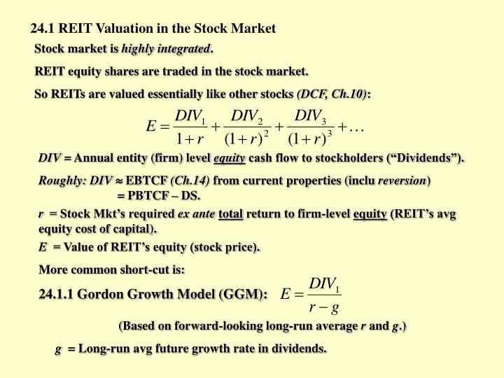 24.1 REIT Valuation in the Stock Market