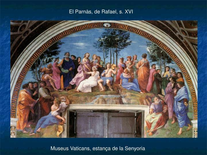 El Parnàs, de Rafael, s. XVI