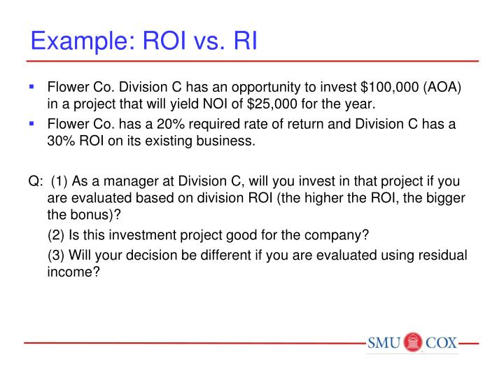 Example: ROI vs. RI