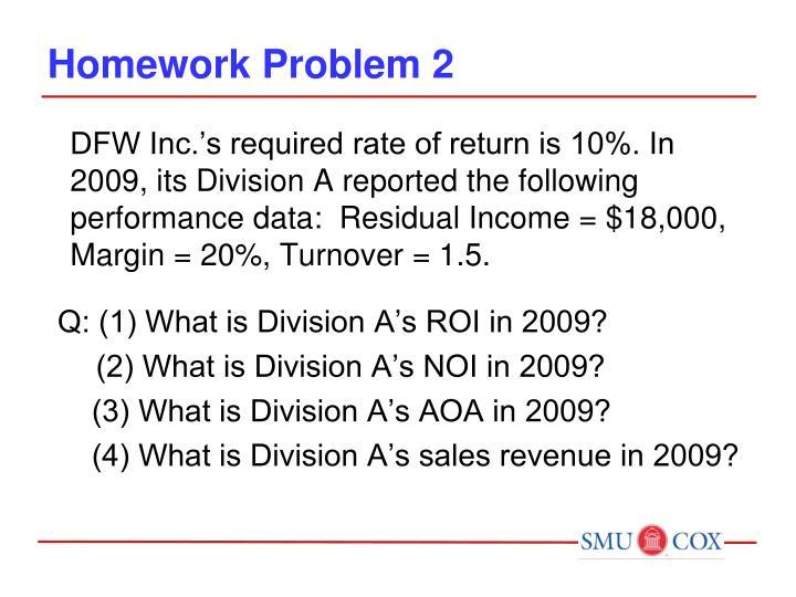 Homework Problem 2