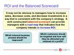 roi and the balanced scorecard