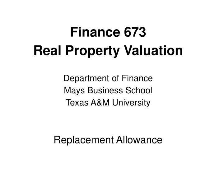 Finance 673