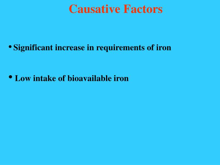 Causative Factors