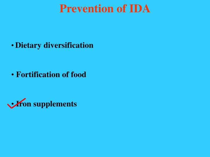 Prevention of IDA