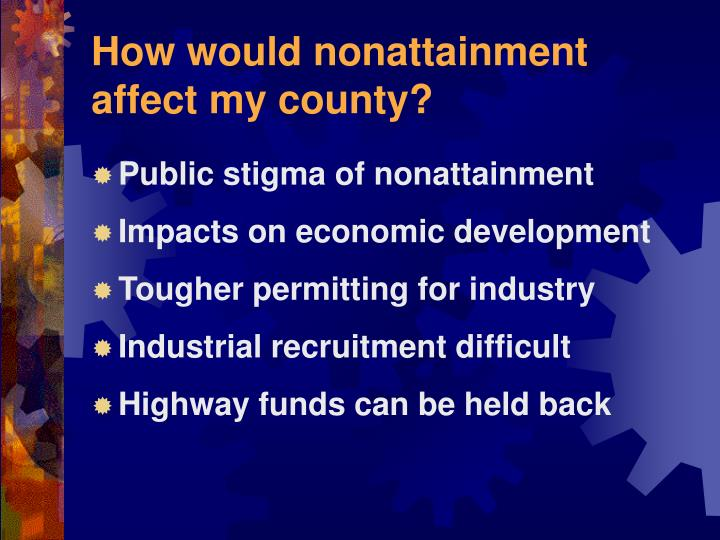 How would nonattainment affect my county?
