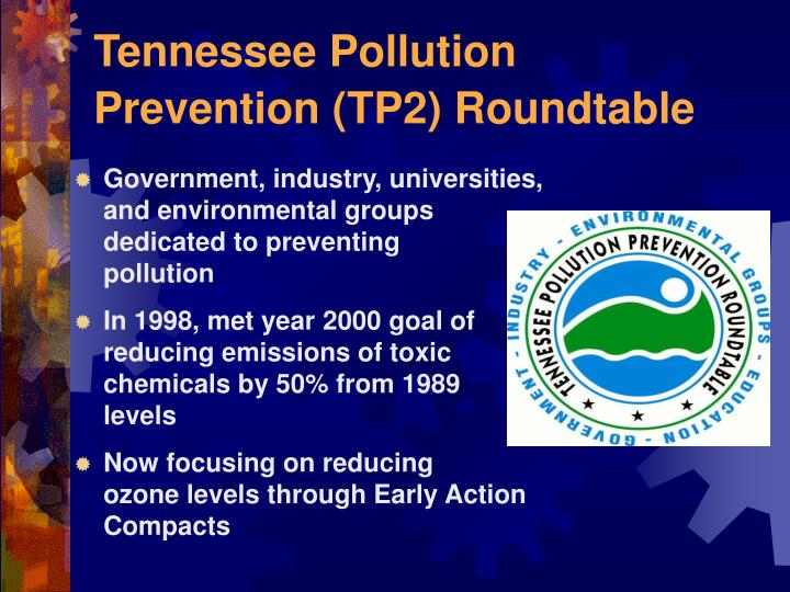 Tennessee Pollution Prevention (TP2) Roundtable
