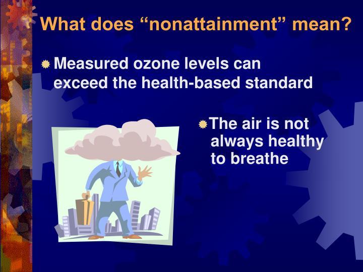 "What does ""nonattainment"" mean?"