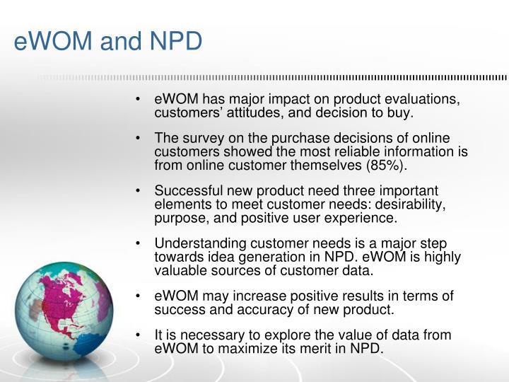 eWOM and NPD