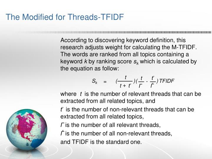 The Modified for Threads-TFIDF
