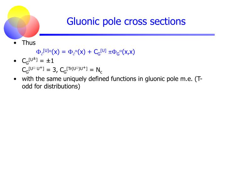 Gluonic pole cross sections