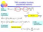 tmd correlation functions unpolarized hadrons