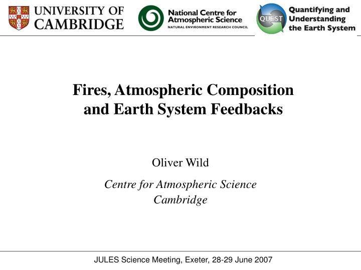 fires atmospheric composition and earth system feedbacks