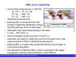 nox from lightning