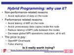 hybrid programming why use it