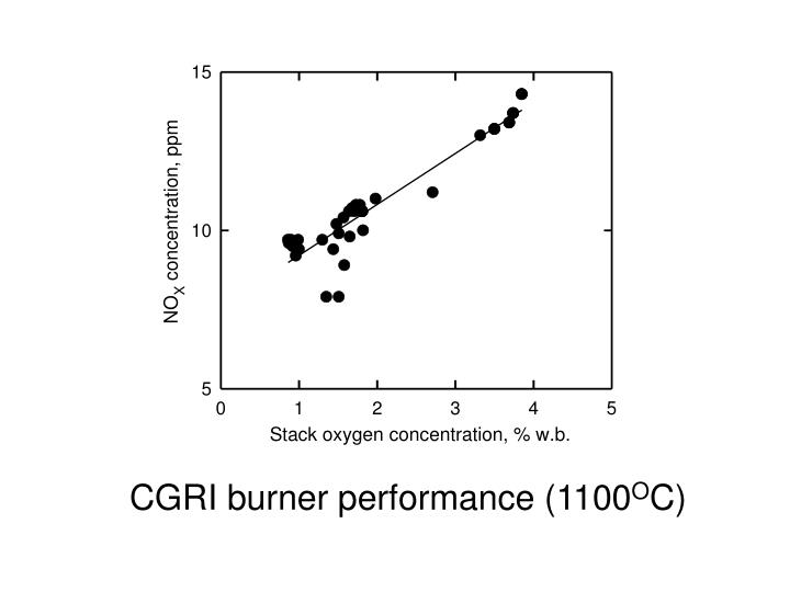 CGRI burner performance (1100