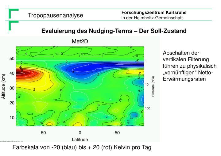 Evaluierung des Nudging-Terms – Der Soll-Zustand